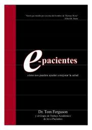 libro blanco de los e-pacientes
