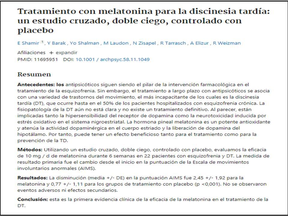 Evidencia de la efectividad de la melatonina