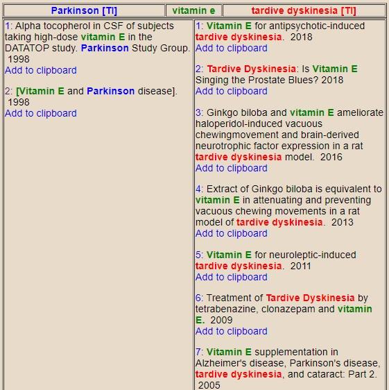 Tratamiento de la discinesia tardía con vitamina E